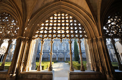 Cloisters of the Batalha monastery, a UNESCO World Heritage Site. Portugal
