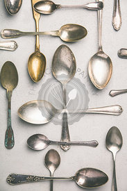 Collection of old vintage spoons