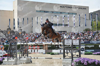 Ben MAHER ,(GBR), SARENA during Longines Cup of the City of Barcelona competition at CSIO5* Barcelona at Real Club de Polo, Barcelona - Spain