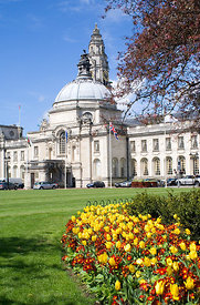 Cardiff City Hall, Cathays Park, Cardiff, South Wales.