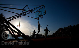 Outdoor match on the Basketball Camp runned by KZS (Košarkarska zveza Slovenije - Slovene Basketball Federation)