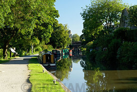 Narrow Boats on Kennat and Avon Canal, Bath, Somerset.