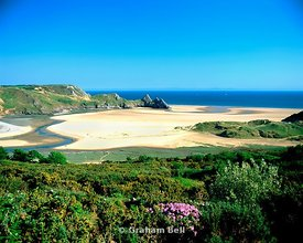 three cliffs bay gower peninsula south wales u k