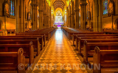 Inside St Mary's Cathedral Sydney