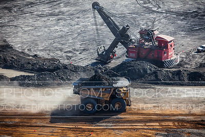 Dump Truck and Hydraulic Excavator