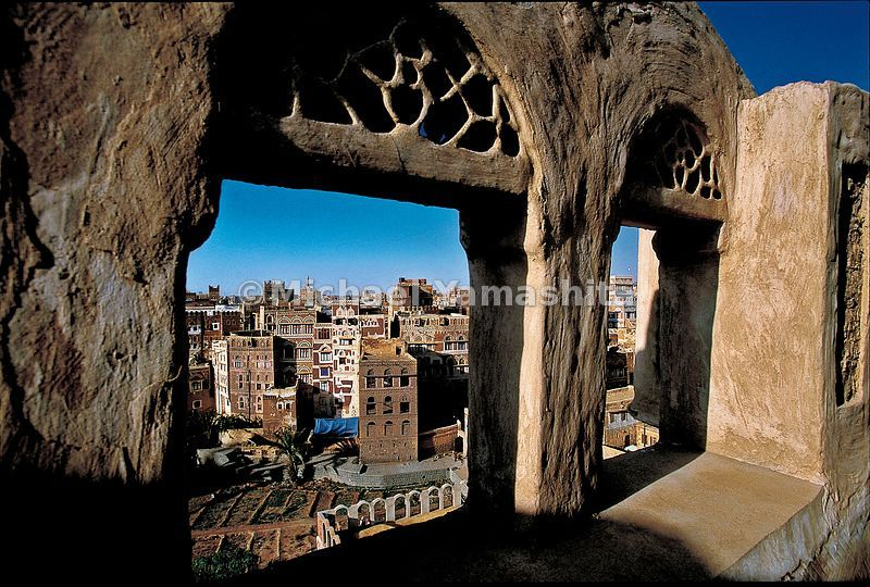Sanna, the capital of Yemen surrounded by ancient clay walls, has been an important trading center on the road to Mecca for 2500 years.