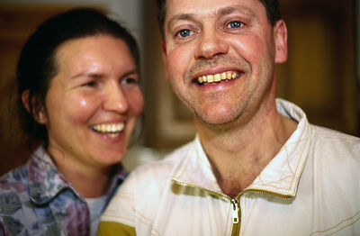 Sweden - Stockholm - A dairy worker and his wife at home
