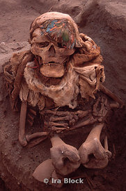skeleton of Peruvian mummy