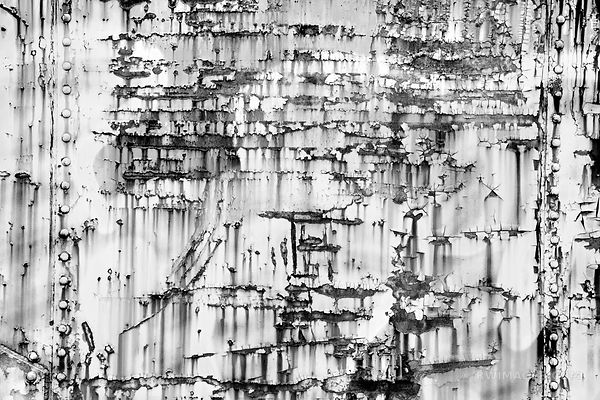 RUSTY OLD TRAIN FREIGHT CAR WALL RANDOLPH VERMONT BLACK AND WHITE ABSTRACT