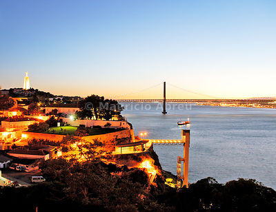 Almada and the Tagus river. Lisbon