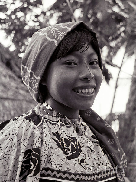 Cuna Indian girl on the San Blas Islands