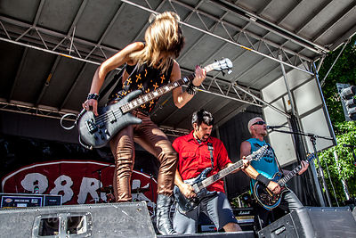 SACRAMENTO, 28 June 2014: Some Fear None playing on the Local Licks stage at SacTown Rocks, a Sacramento music festival held on Capitol Mall, Sacramento, 28th June 2014