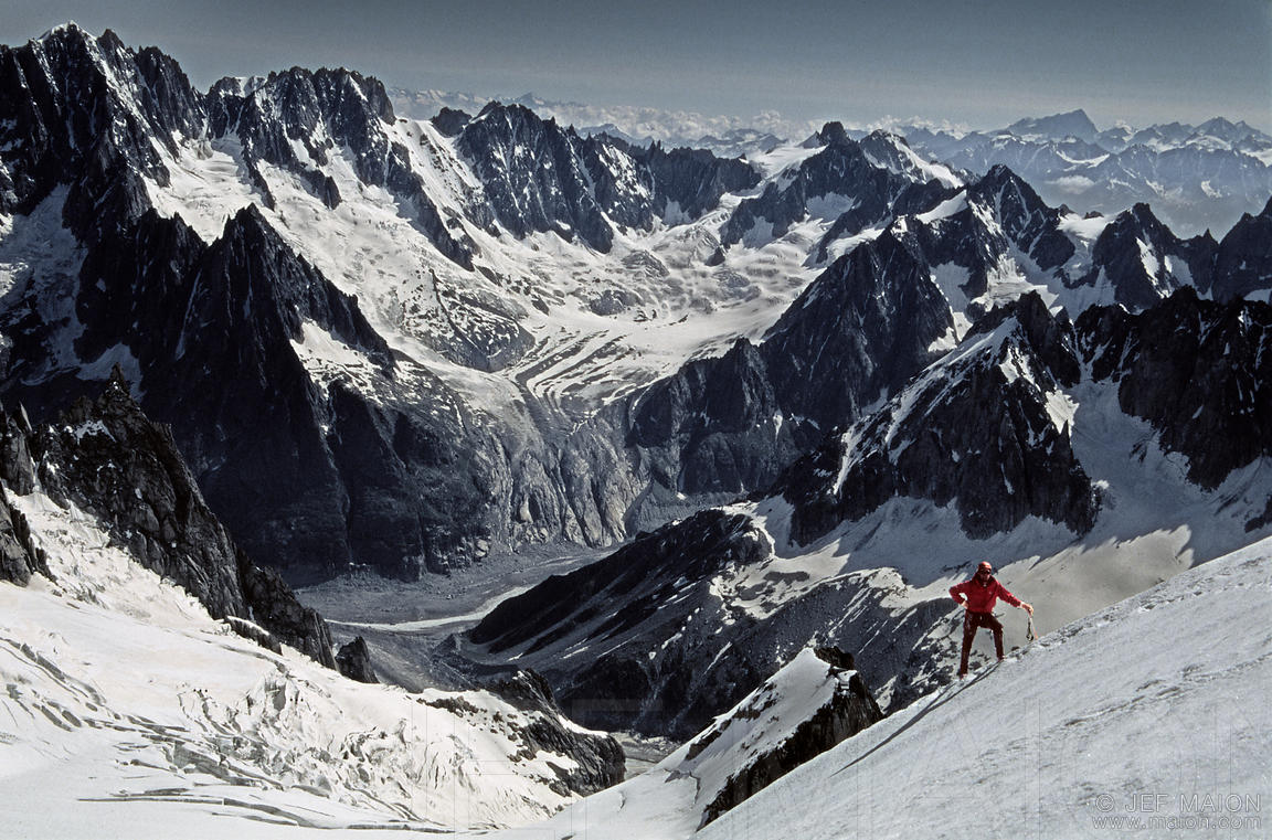 Climbing in the Mont Blanc Massif