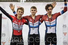 Junior Men Keirin Podium, 2017/2018 Track Ontario Cup #2, Mattamy National Cycling Centre, Milton On, January 14, 2018
