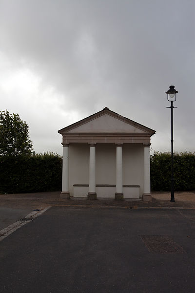 UK - Dorset - A traditionally styled shelter in Poundbury.