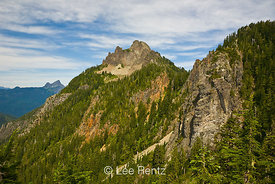 Mt. Forgotten viewed from a saddle along the Perry Creek–Mt. Forgotten Trail in Mt. Baker-Snoqualmie National Forest, Cascade Mountains, Washington, USA, August, 2008_WA_4563