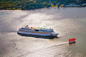 Cruise_Ship_and_Red_Schooner_Acadia_Aerial_041