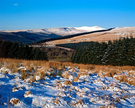 the brecon beacons from dol y gaer, brecon beacons national park, powys, wales.