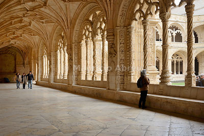 The Cloisters of the Jeronimos Monastery (Mosteiro dos Jeronimos), a UNESCO World Heritage Site. Lisbon, Portugal (MR)