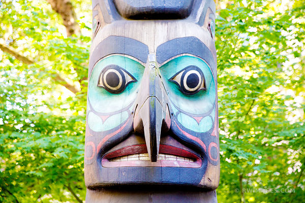 TOTEM POLE PIONEER SQUARE SEATTLE HISTORIC DISTRICT