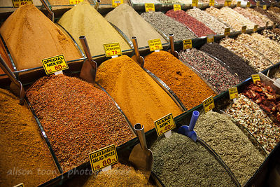 Spices for sale in the market, Istanbul