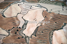 Cropfields in Monegros Also Called The Desert, Aragon