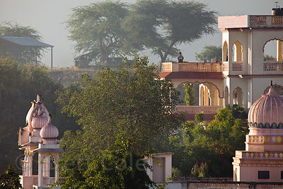 Temple and house in Pushkar, Rajasthan, India