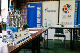 Preparation during the Final Tournament - Final Four - SEHA - Gazprom league, SEHA assembly in Brest, Belarus, 07.04.2017, Mandatory Credit ©SEHA/ Uros Hočevar
