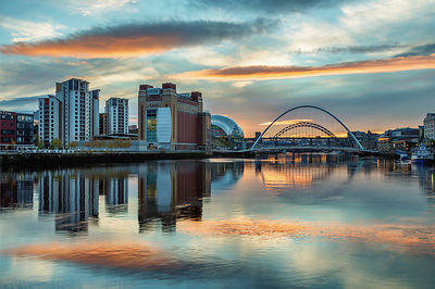 November Sunset on the Tyne.