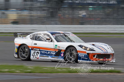Fox Motorsport Ginetta G55 GT4 in action at the Silverstone 500 - the third round of the British GT Championship 2014 - 1st June 2014