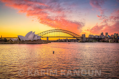 Sydney Opera House at Sunset Time