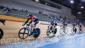 Junior Women Keirin Final. 2016/2017 Track O-Cup #3/Eastern Track Challenge, Mattamy National Cycling Centre, Milton, On, February 11, 2017