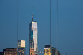 One World Trade Center (Freedom Tower) at sunset.