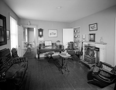 Parlor of Philadelphia home of Edgar Allan Poe