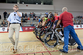 Junior Men Keirin Final. Canadian Track Championships (U17/Junior), April 3, 2016