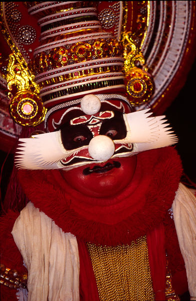 India - Kerala - A Kathakali performance at the Kerala Kalamandalam