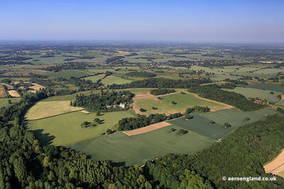 aerial photograph of Shotesham Park, Norfolk England UK.