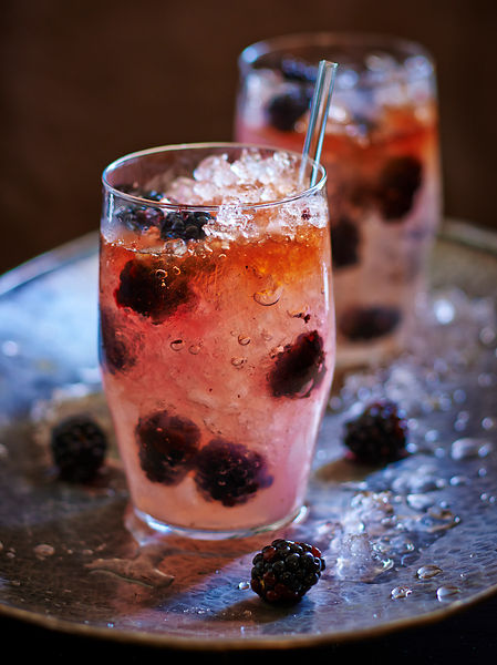 Blackberry Cocktail Cooler Drink