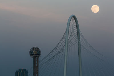 Supermoon Over Dallas