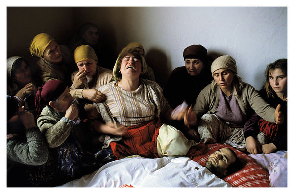 Mourning of Nasimi Elshani in Nagavc, Kosovo. Worldpress picture of the year 1991