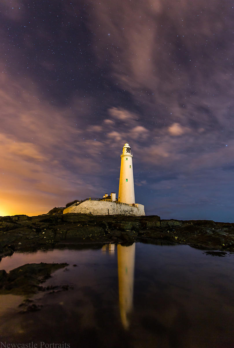 St Marys Lighthouse at Night