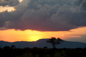 Sunset over Taita Hills, Tsavo East National Park, Kenya