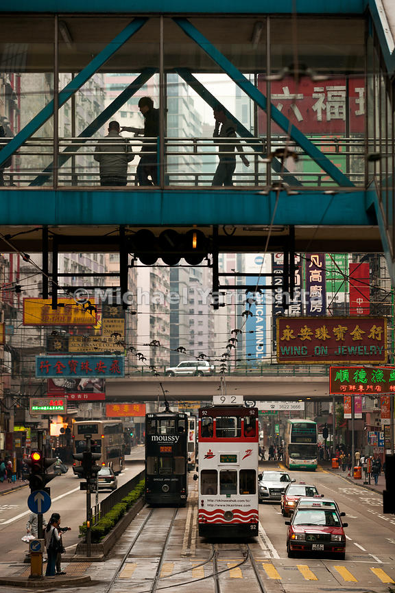 Hong Kong's Tramways, 118 trams, 6 lines, 30km, carries 240,000 passengers per day. Running since 1904. Operates from 5:30am till 12:30 am, speeds up to 60km, $2.00 per ride of any length make it HK's best travel bargain