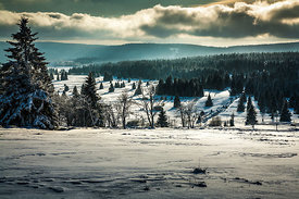 Winter in the Ore Mountains (Krušné hory), Czech Republic