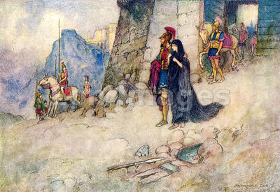 Criseyde Leaving Troy by Warwick Goble