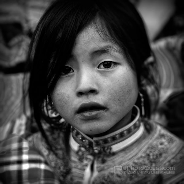Young Flower Hmong Girl