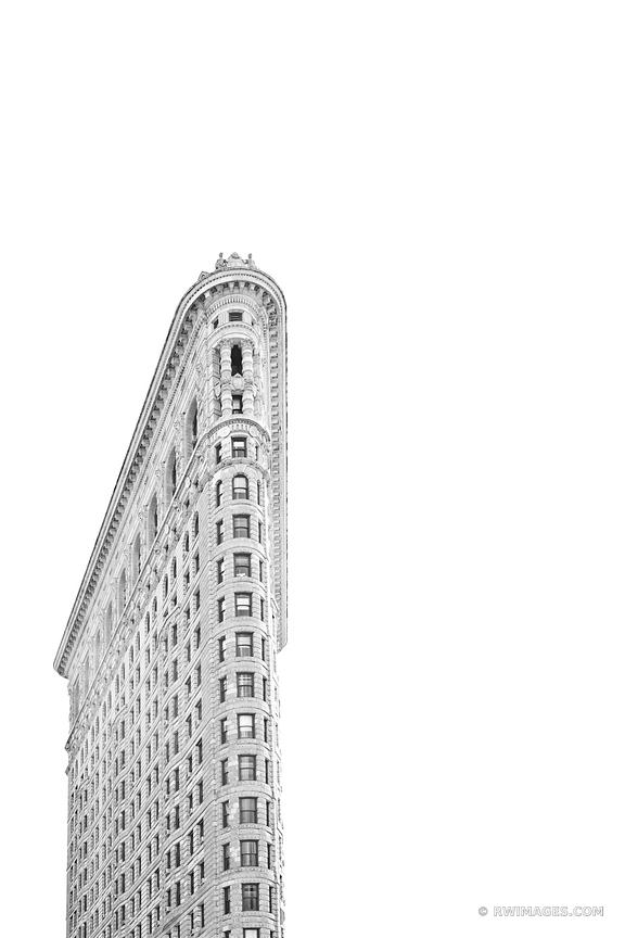 FLATIRON BUILDING MANHATTAN NEW YORK BLACK AND WHITE VERTICAL