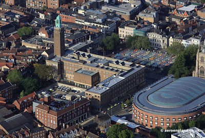 aerial photograph of City Hall, Norwich