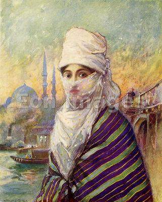 Turkish lady by Warwick Goble