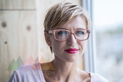Portrait of businesswoman wearing glasses